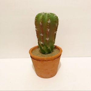 NWT faux cactus in a terra-cotta pot
